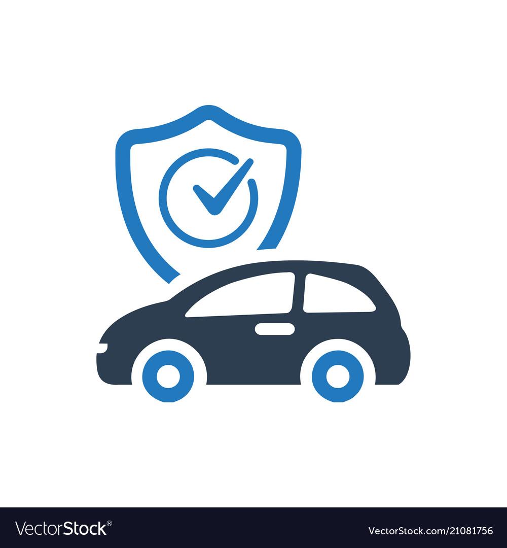 Auto Insurance Icon Royalty Free Vector Image Vectorstock