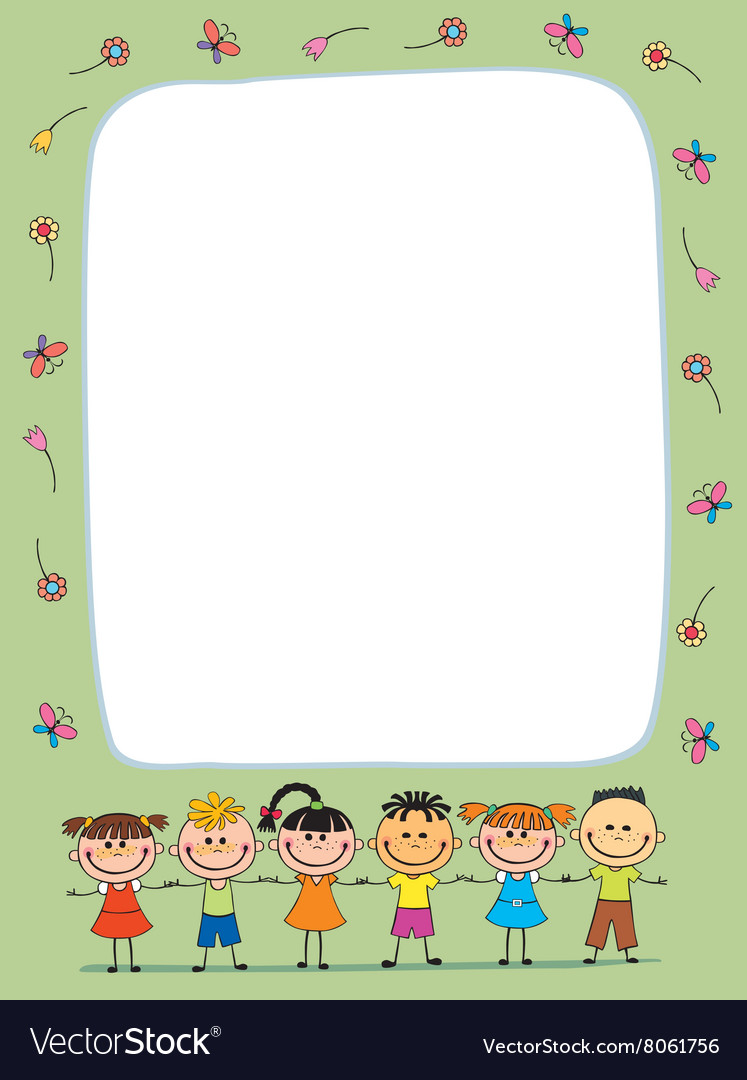 Background Blank With Kids Summer Camp Vector Image