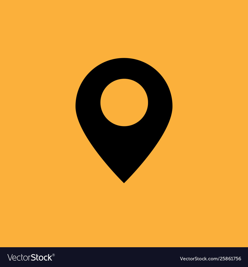 Black google map icon