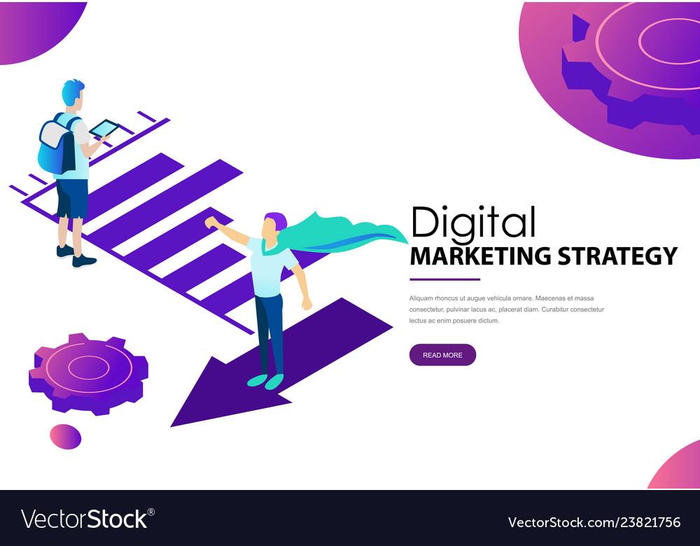 Digital marketing strategy landing web page