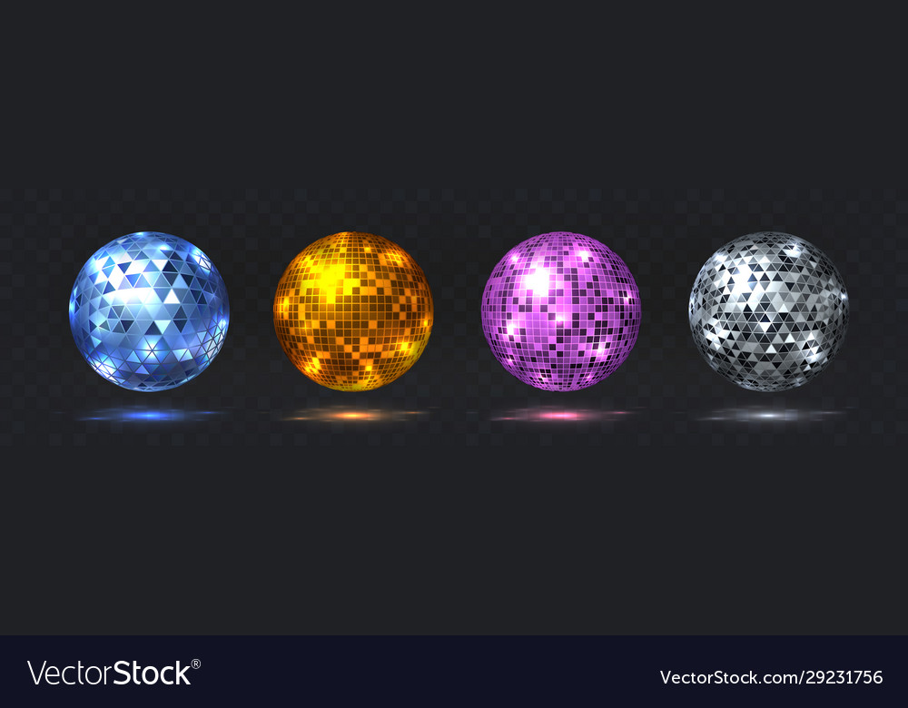 Disco balls night club party element with mirror