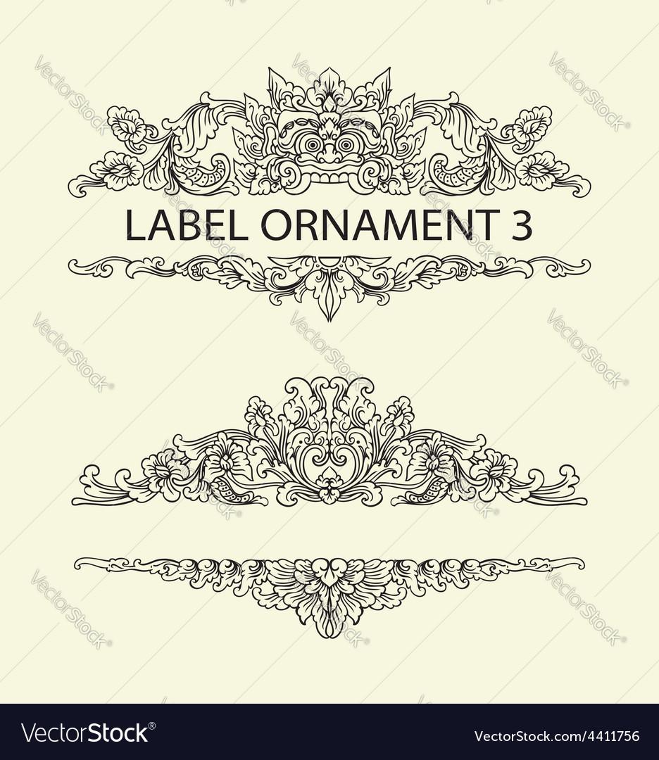 Label ornament 3