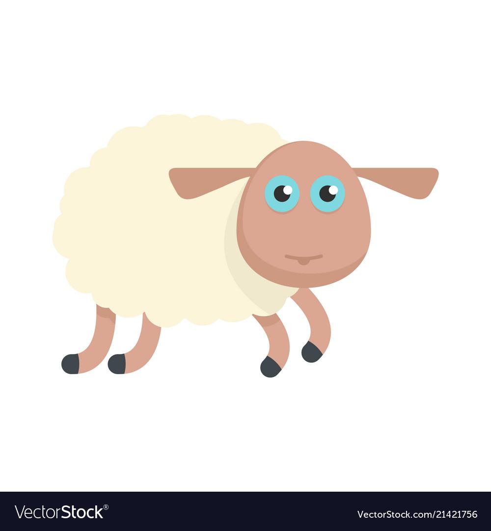 Sheep icon flat style