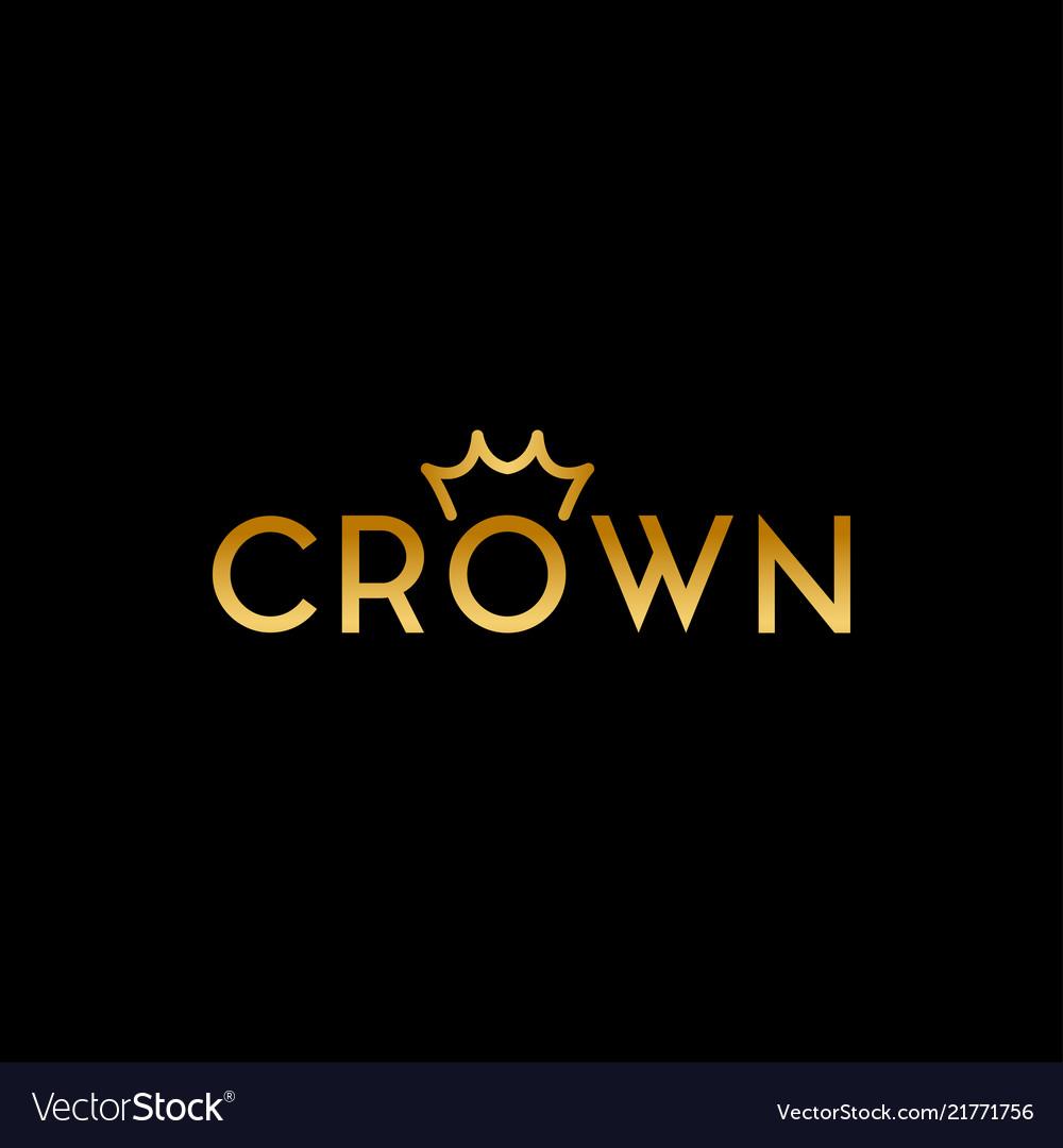 simple and elegant crown logo design template vector image