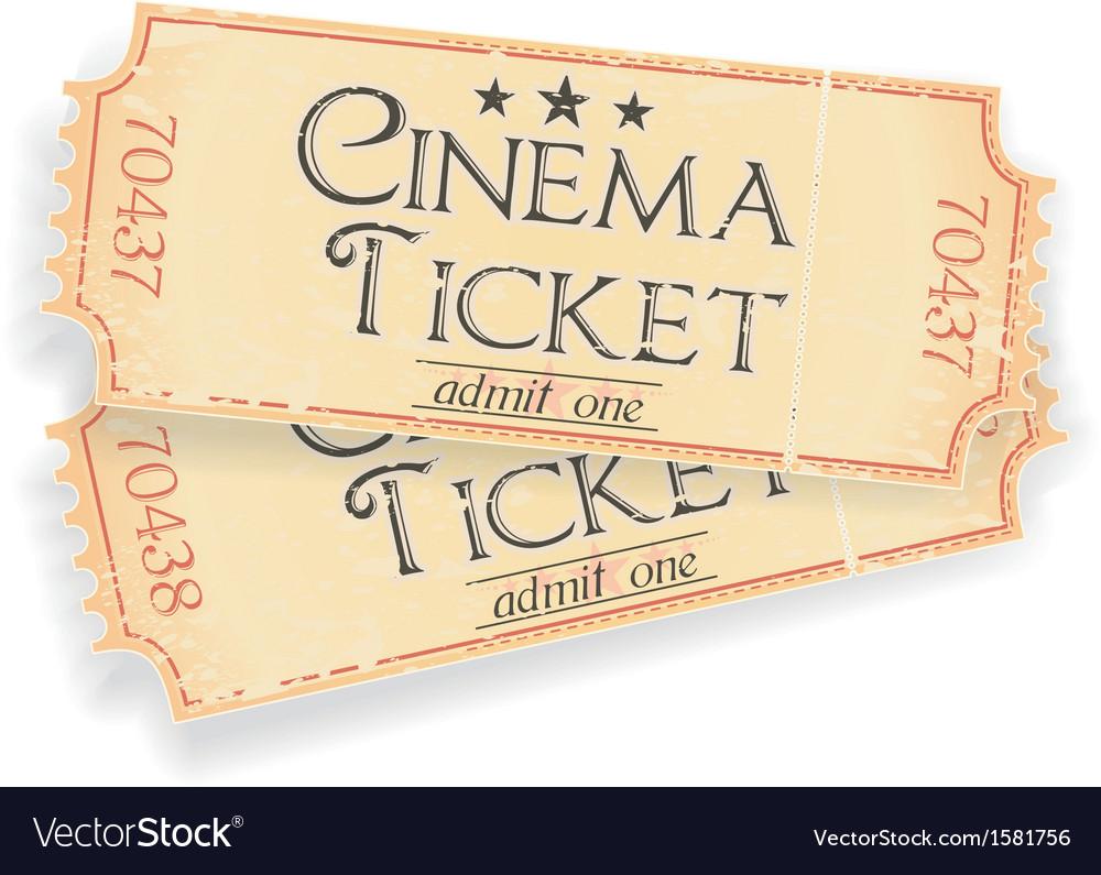 Vintage sinema ticket vector image