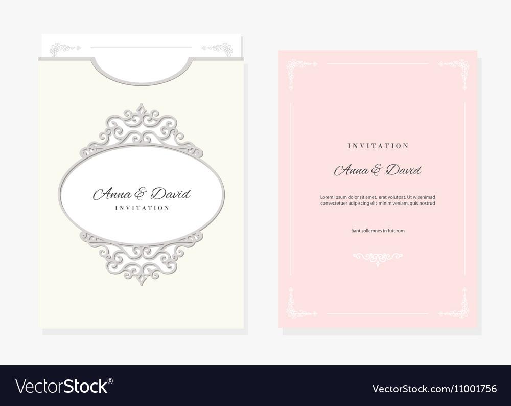 Wedding envelope template laser cutting Royalty Free Vector