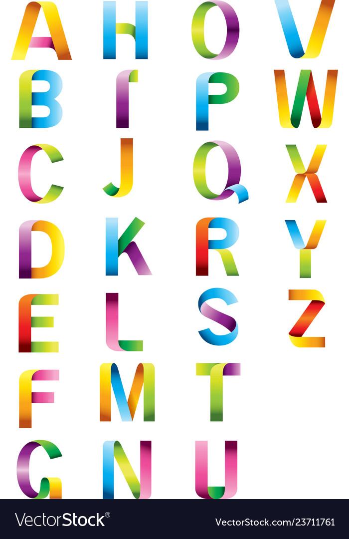 Alphabet color letters