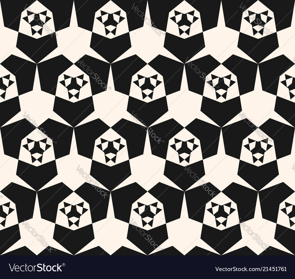 Black and white geometric pattern modern abstract