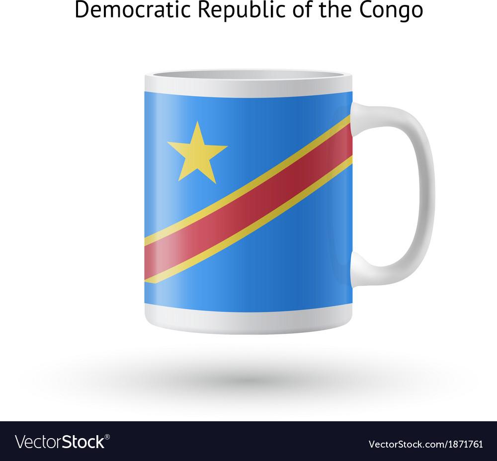 Democratic Republic of Congo flag souvenir mug on