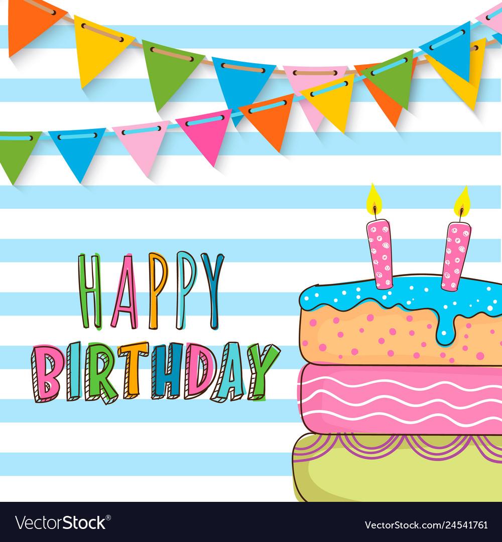Happy Birthday Invitation Card Design