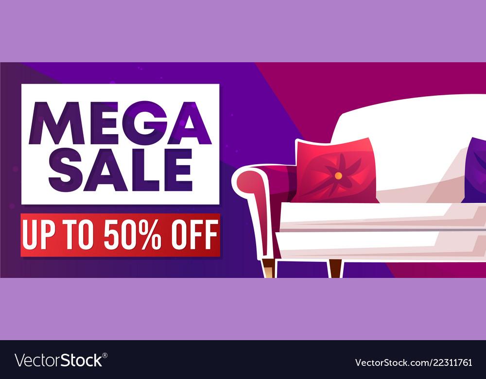 Mega sale home furniture shop banner
