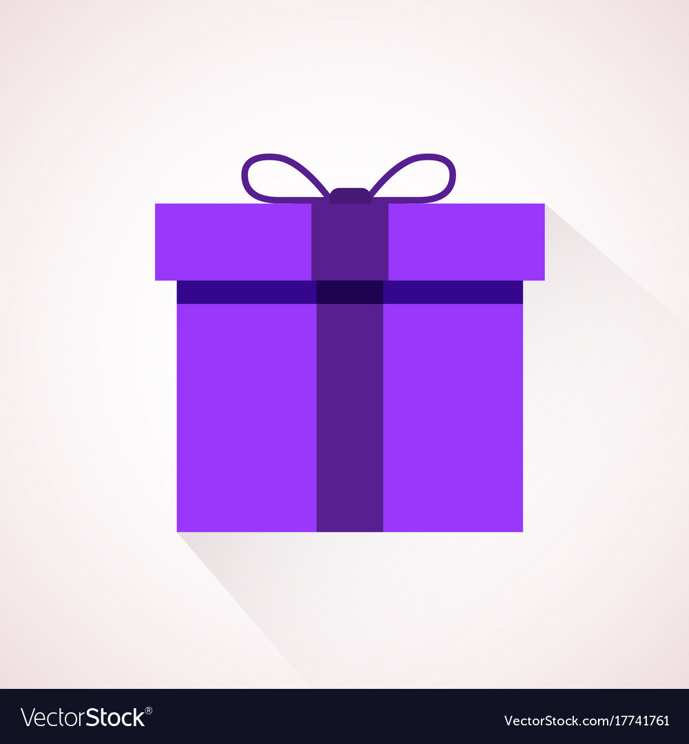 Pink flat present box concept vector image