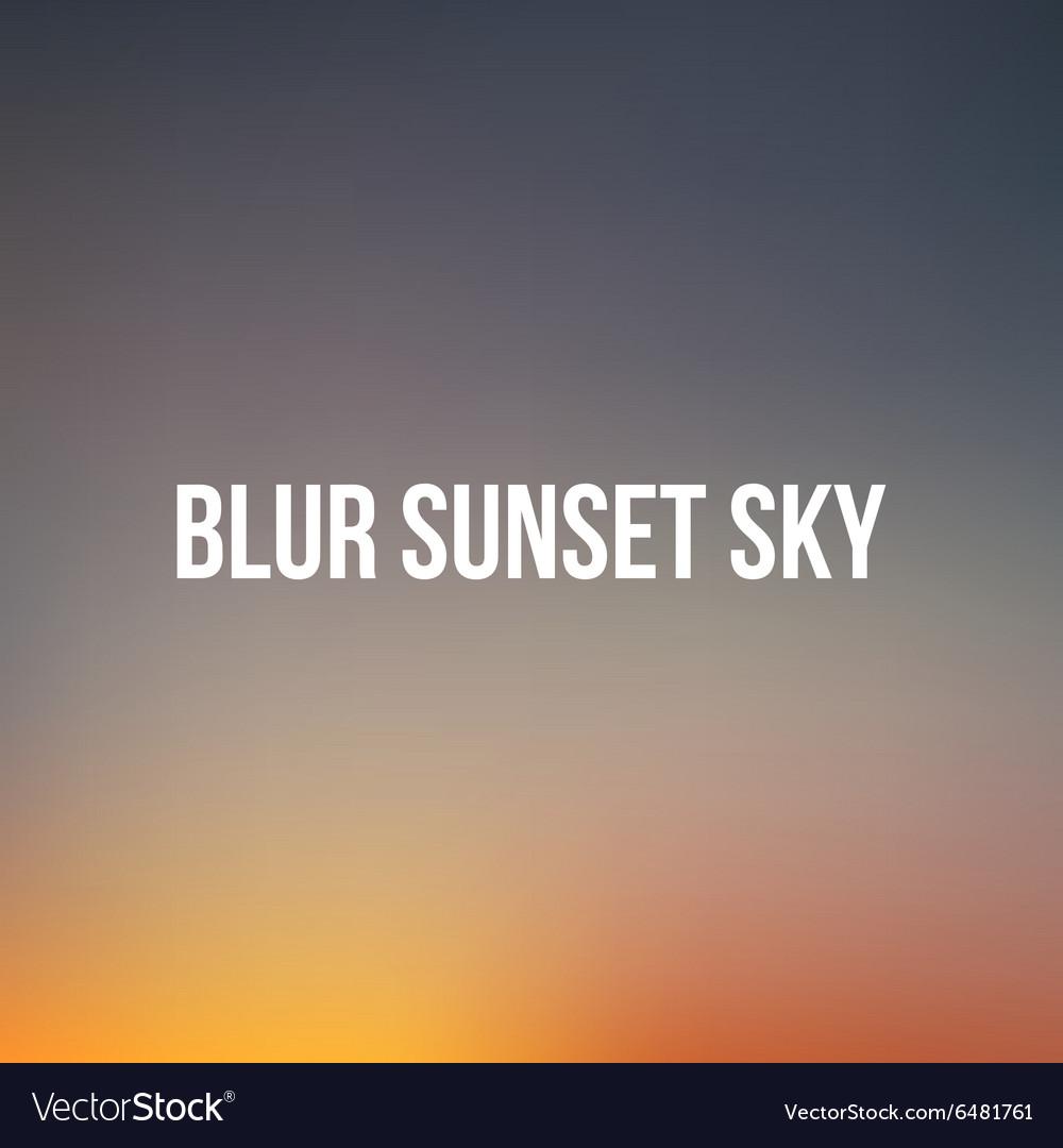 Realistic blurred sunset or sunrise sky