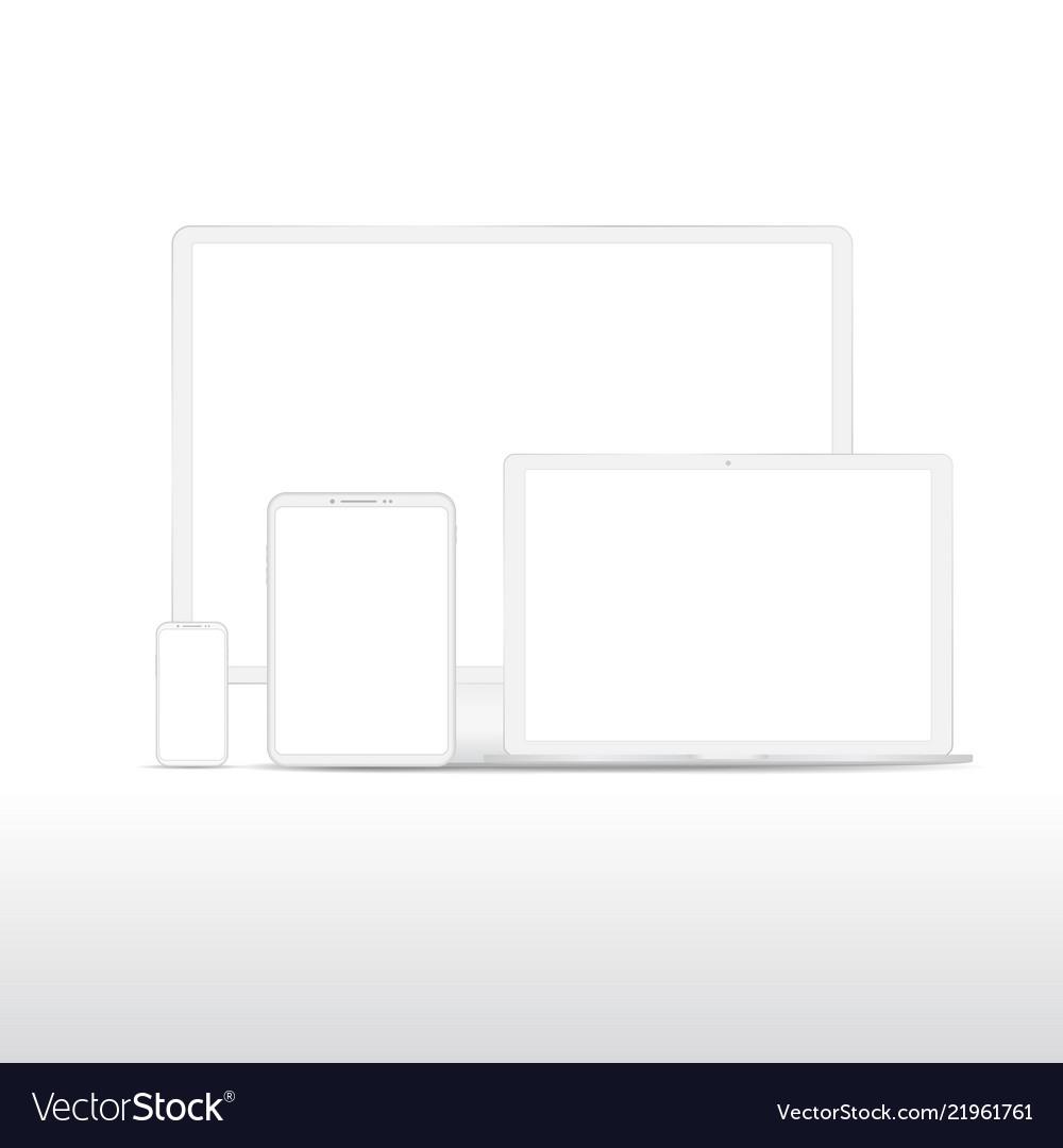White digital gadgets