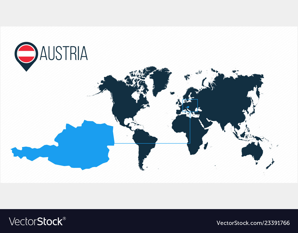Austria location modern map for infographics all