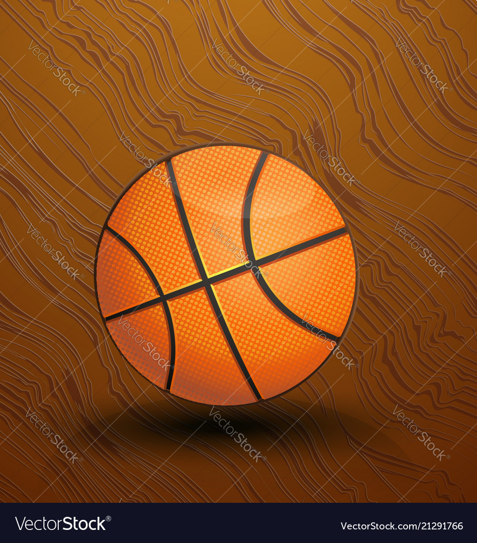 Basketball on the court icon