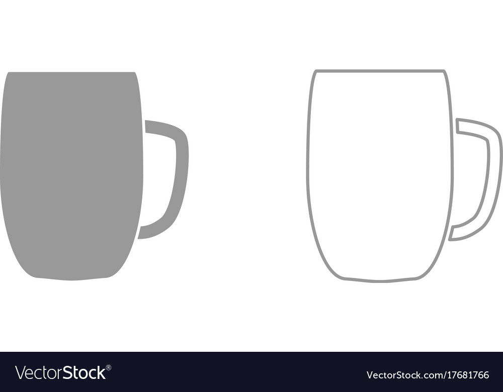 Beer mug it is black icon