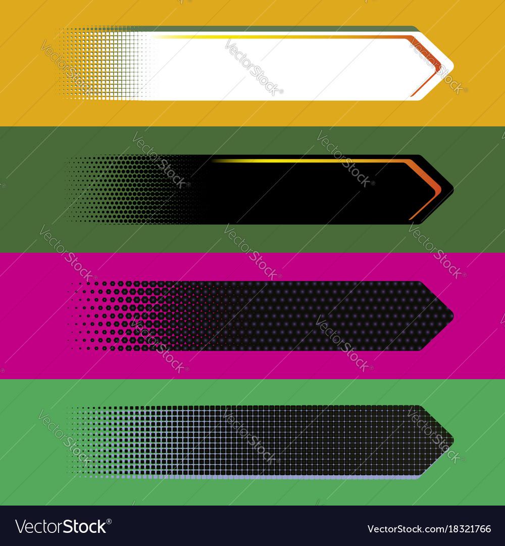 Digital style arrow banners