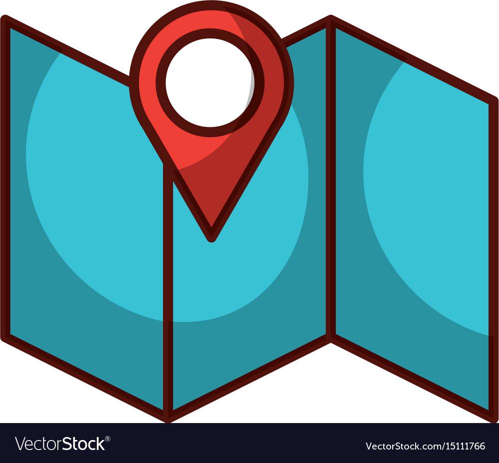 Gps map pointer cartoon