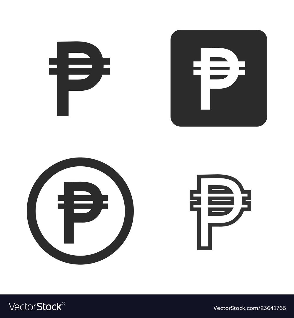 Peso currency symbol set