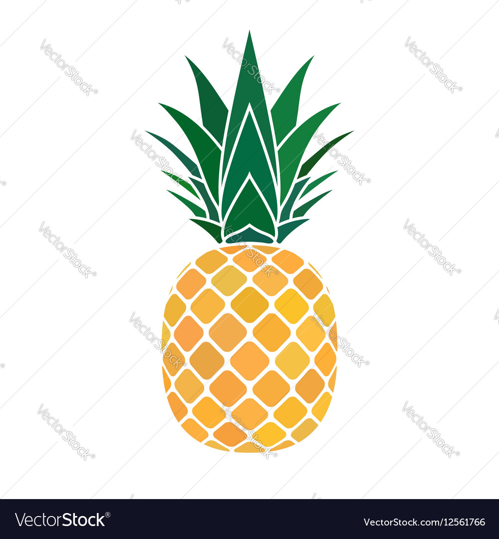 Pineapple yellow icon