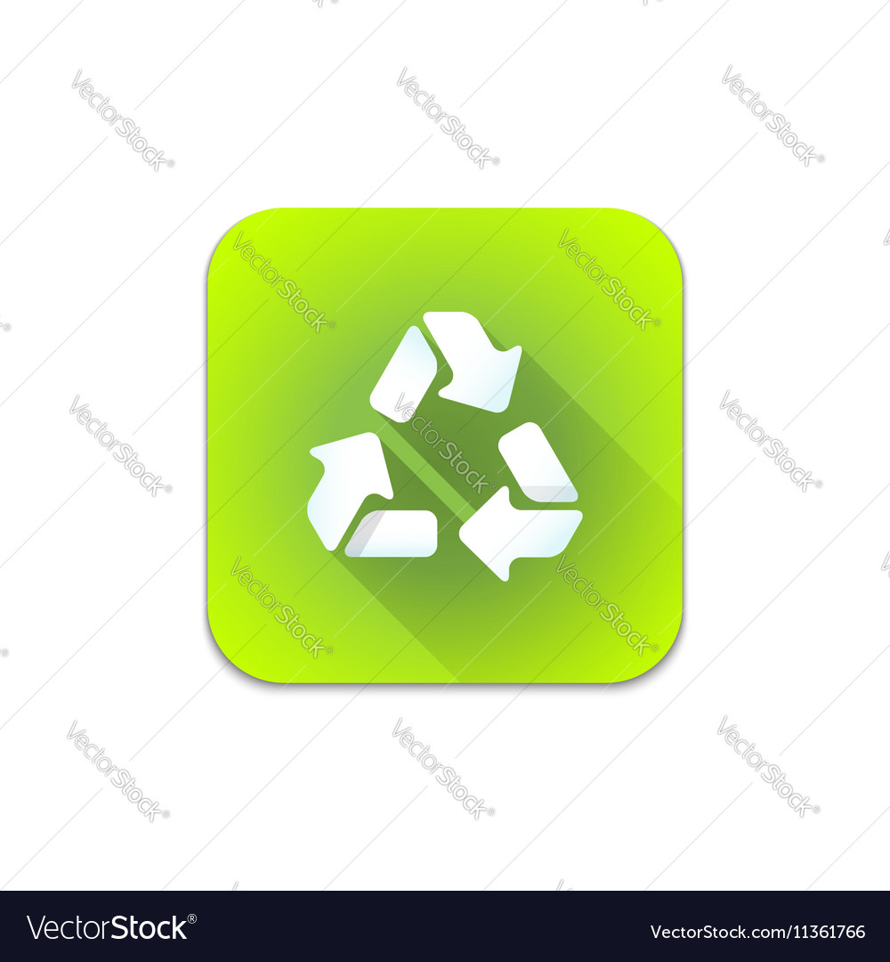 Recycle waste sign icon
