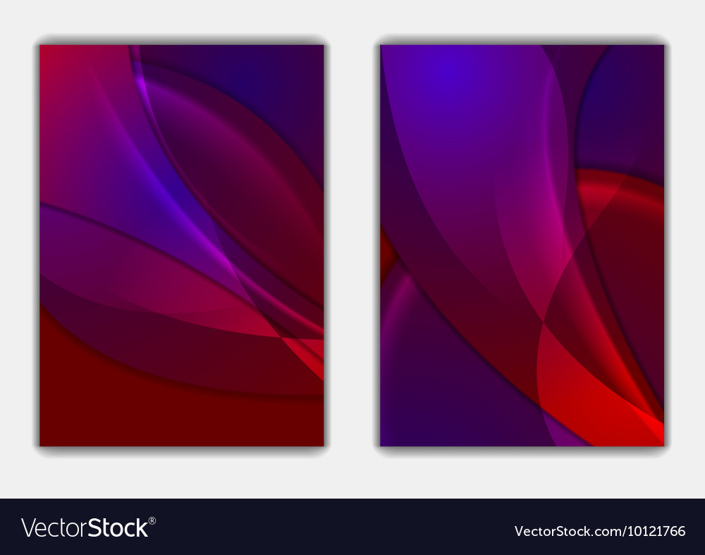 soft shiny abstract waves flyer background vector image