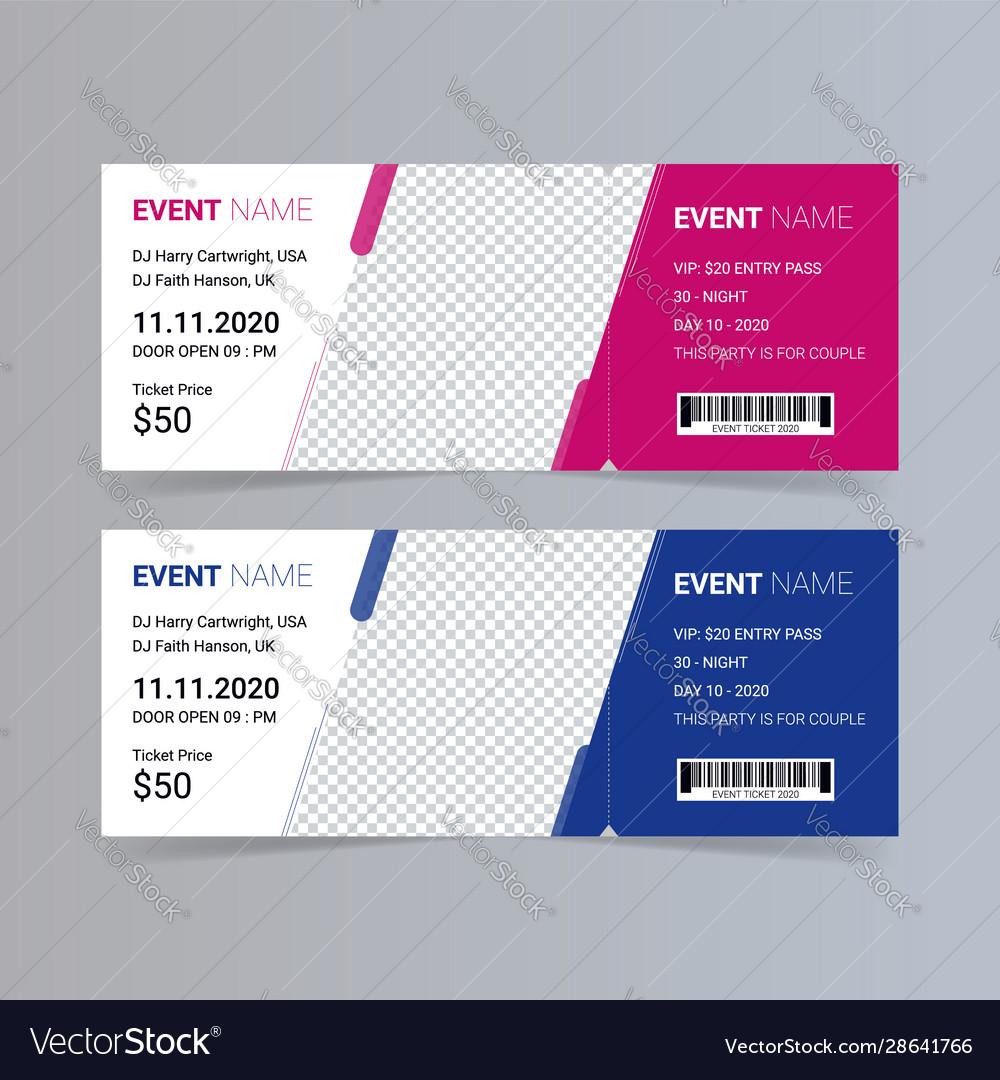 Free Event Ticket Template Download from cdn2.vectorstock.com