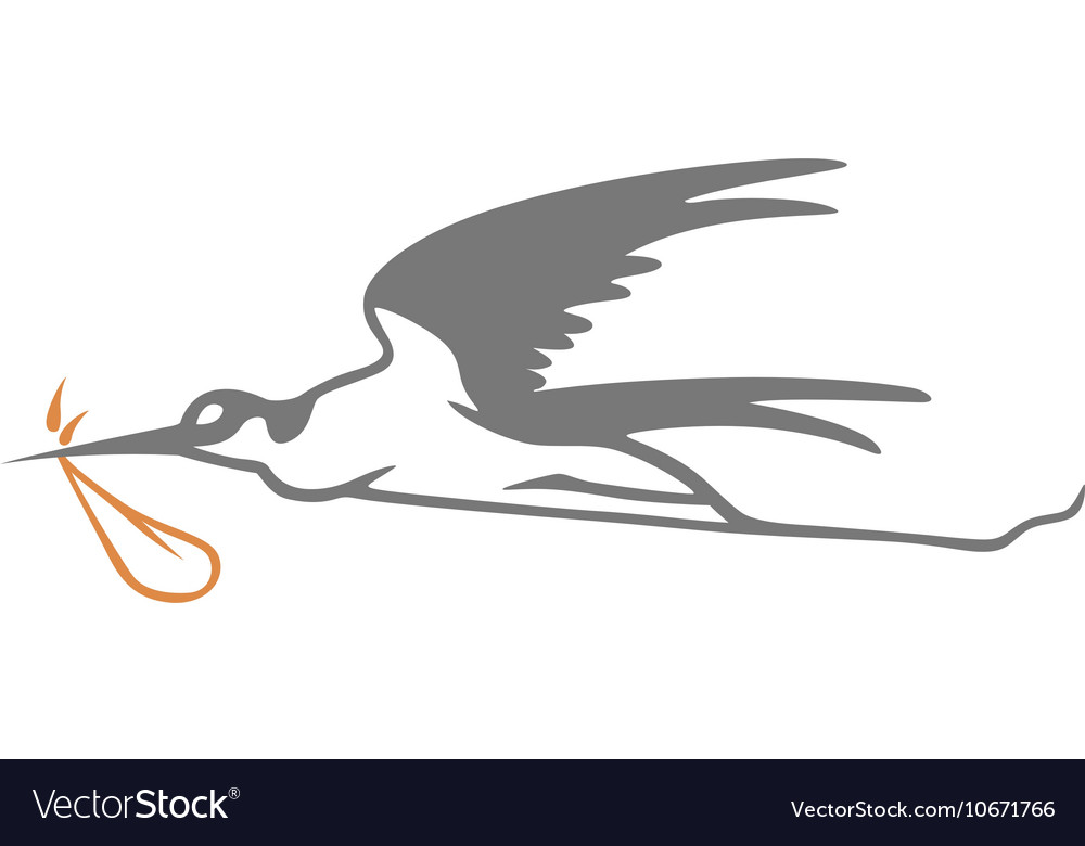 Stork Simple vector image