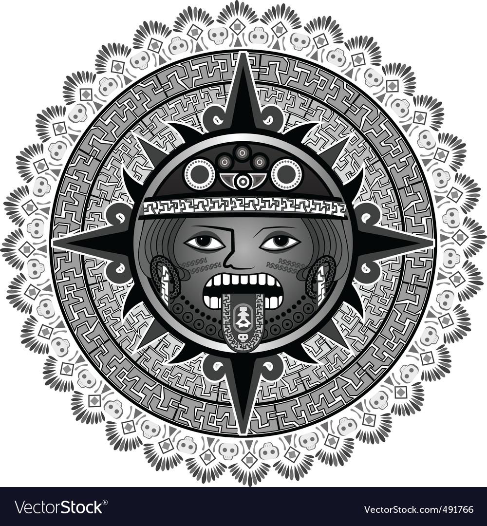 Sun of Indians of Aztecs