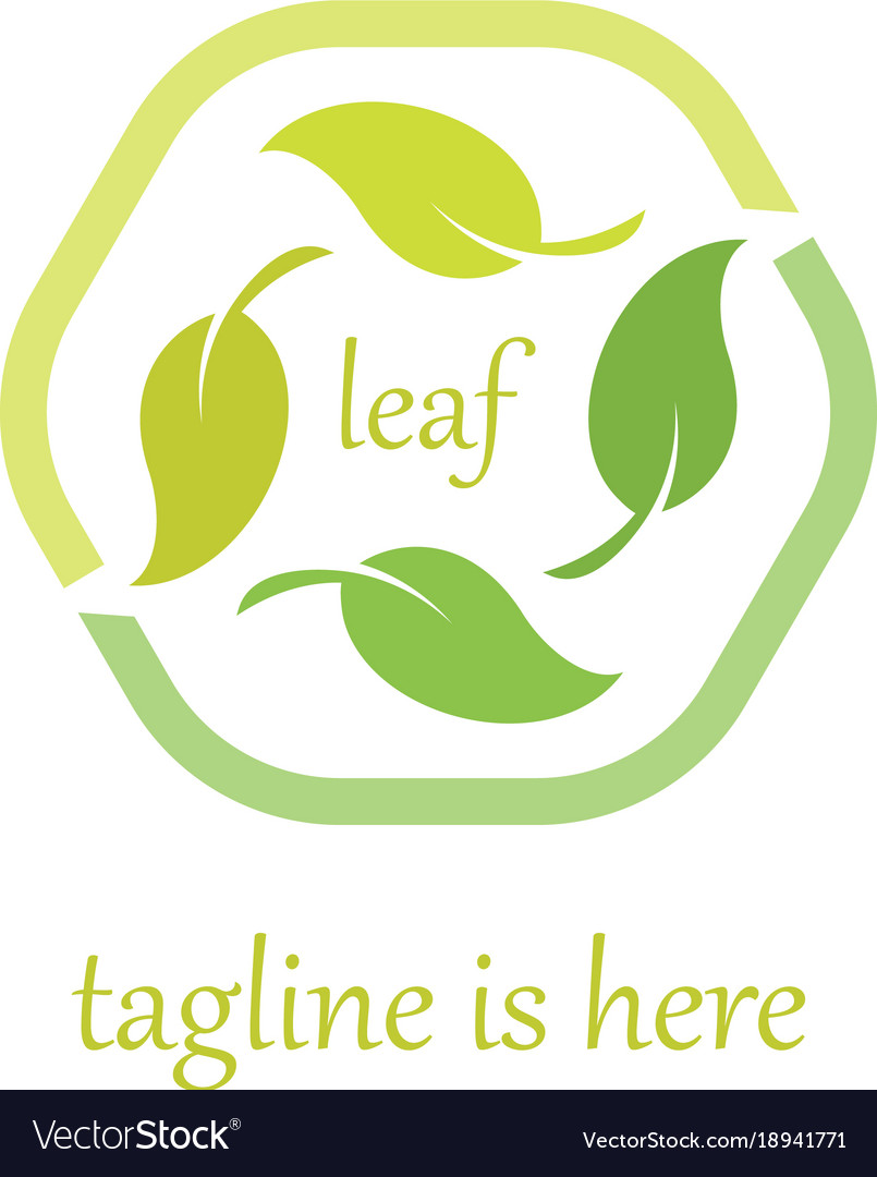 4 leaf logo template design