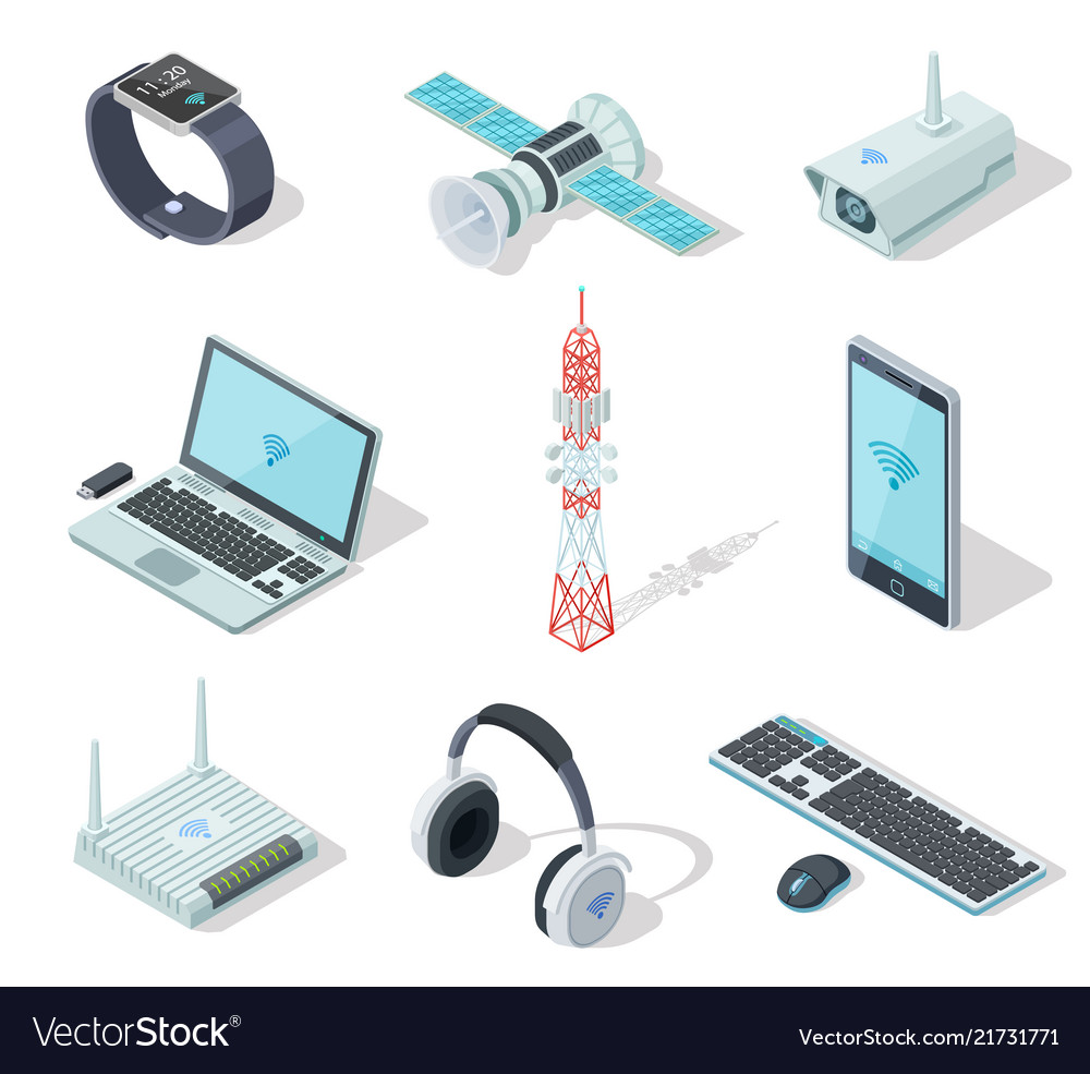 Electronic devices isometric wireless gadgets