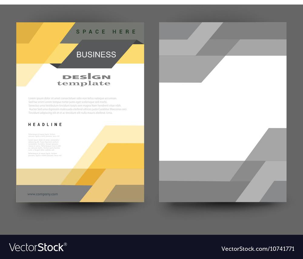 Flyer Design Layout Royalty Free Vector Image Vectorstock