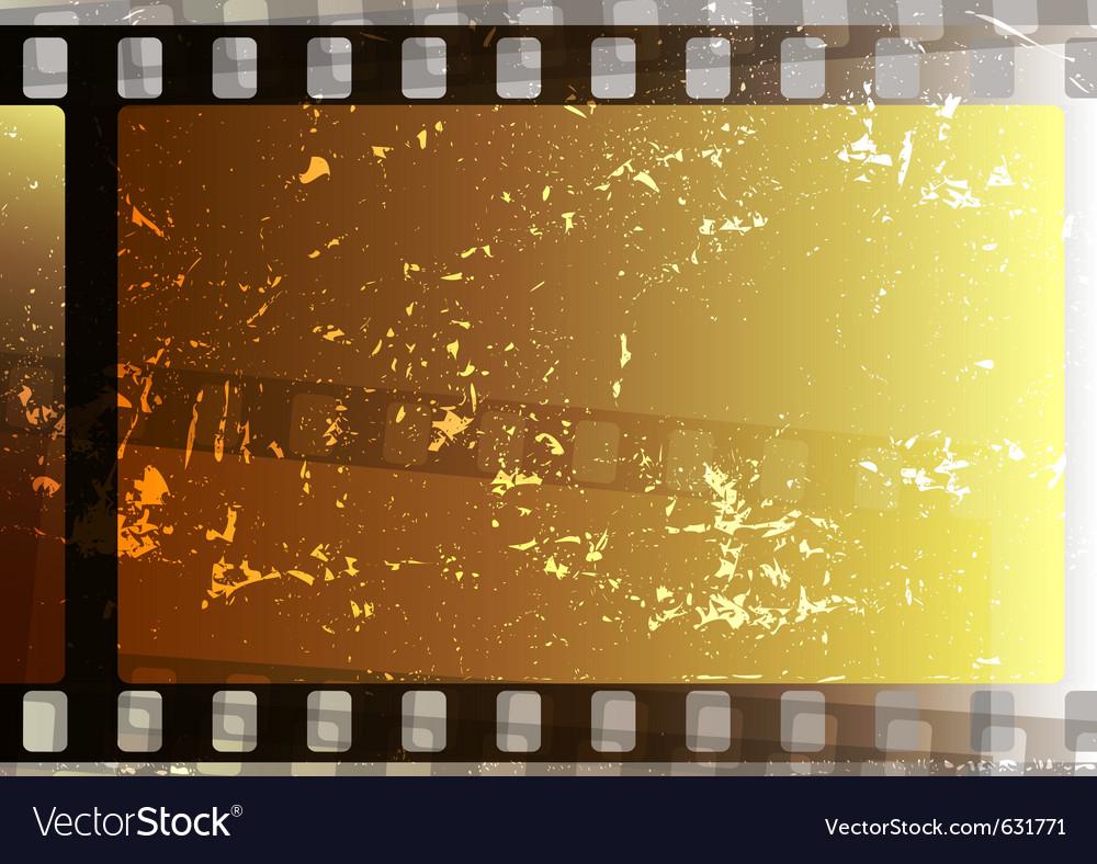 Grunge Camera Vector : Grunge fragmentary film strips background for desi