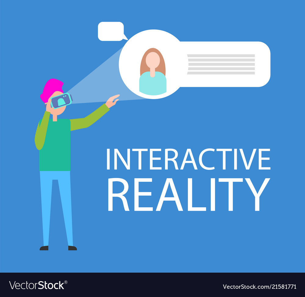 Interactive reality interface demonstration banner