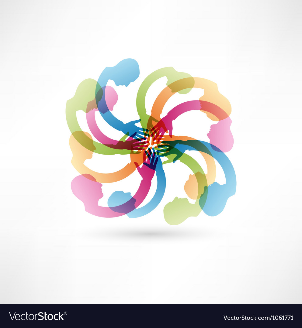 Teamwork hands vector image