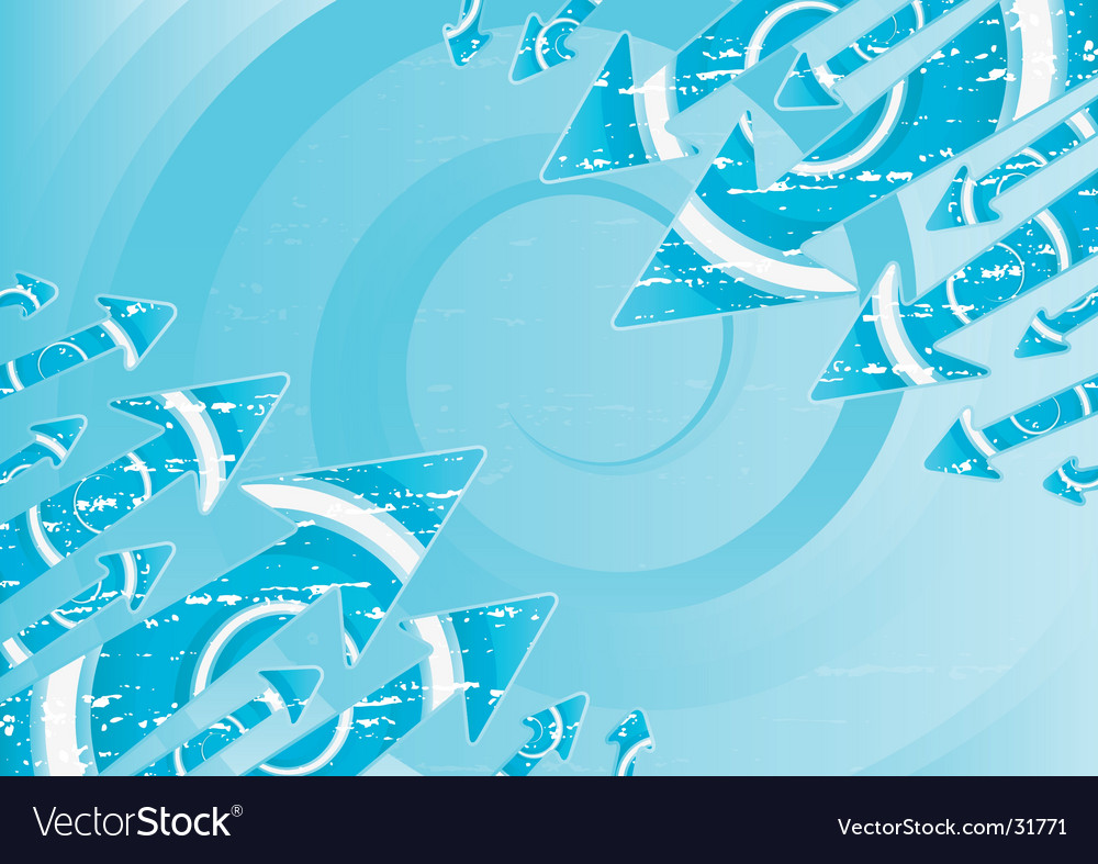 Water spirals and arrows vector image