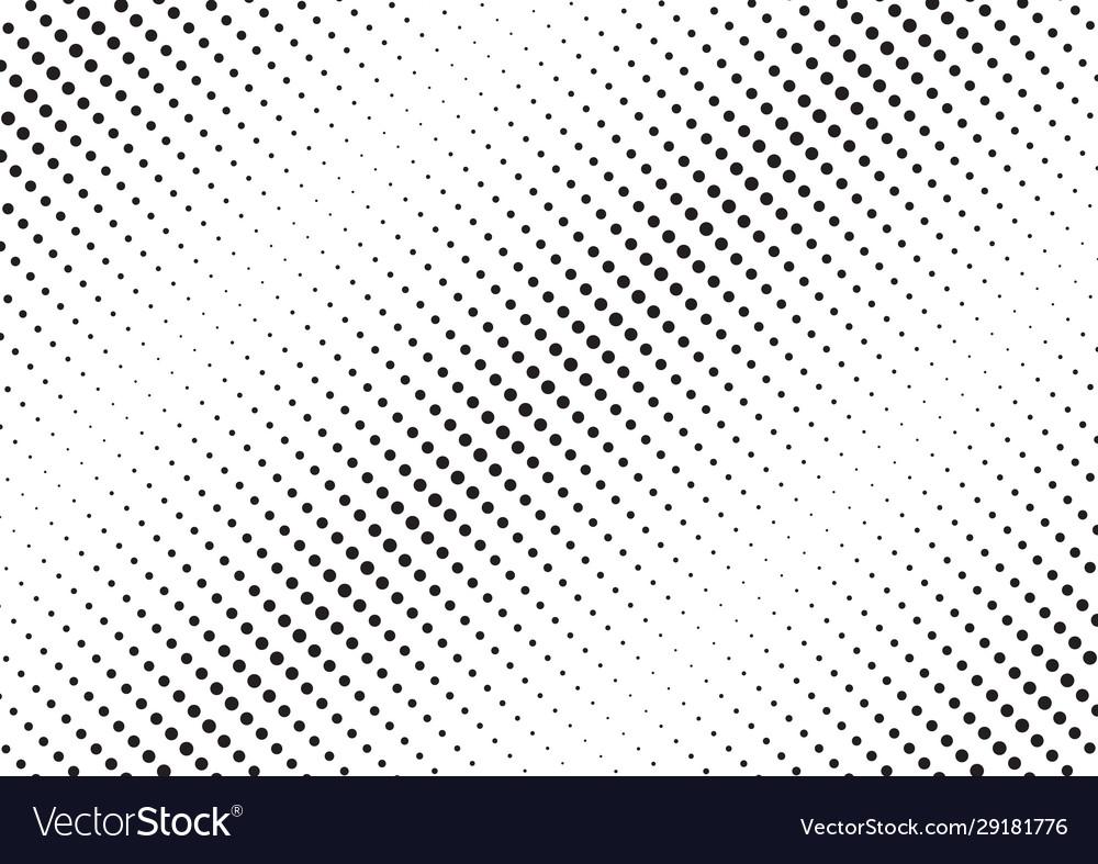 Abstract black diagonal halftone pattern on white