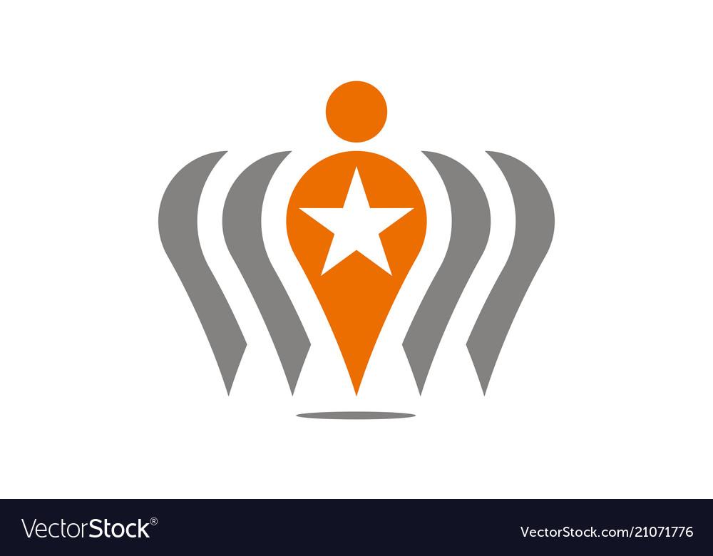 Candidate leadership logo design template