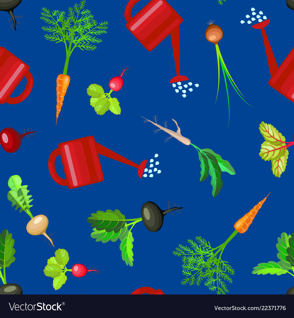 Cartoon colorful fresh organic food vegetable bed