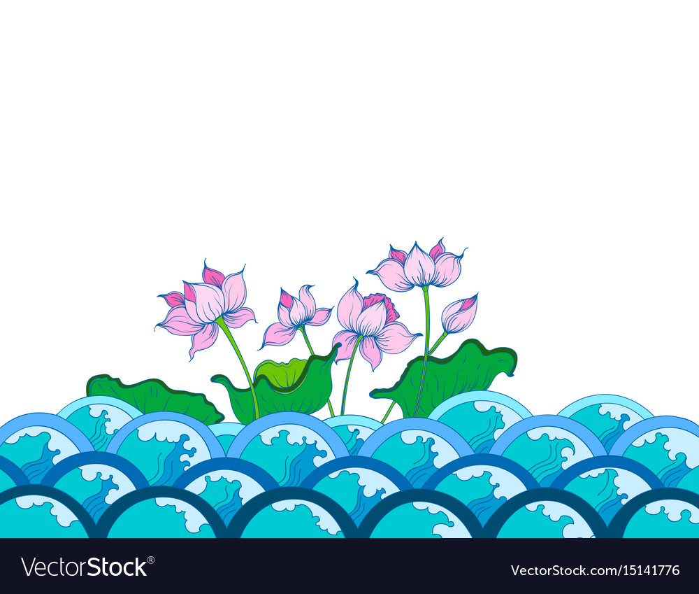 Colors lotus flowers art pattern royalty free vector image colors lotus flowers art pattern vector image mightylinksfo