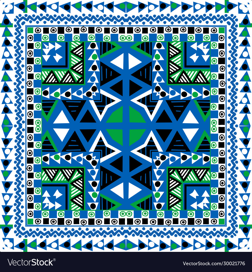 Geometrical background with ethnic motifs