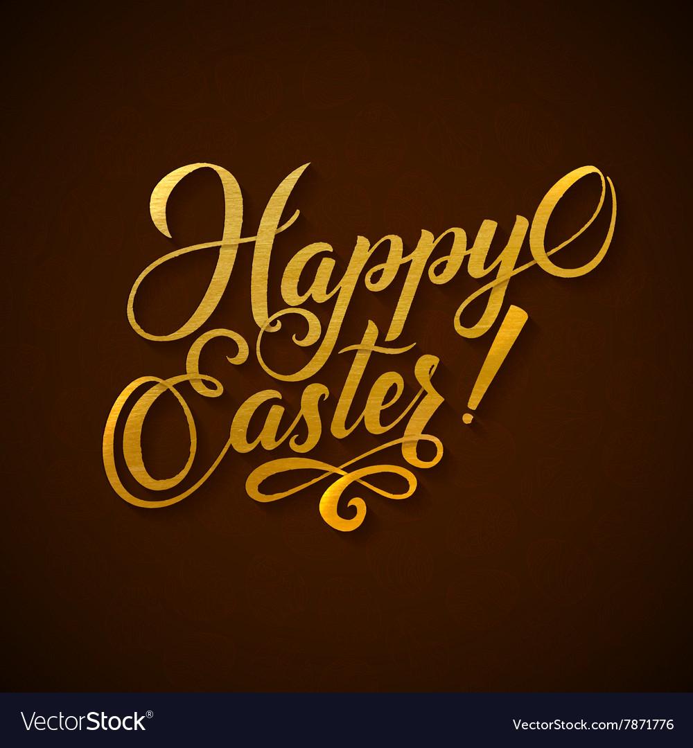 Gold Foil Happy Easter Greeting Egg Card