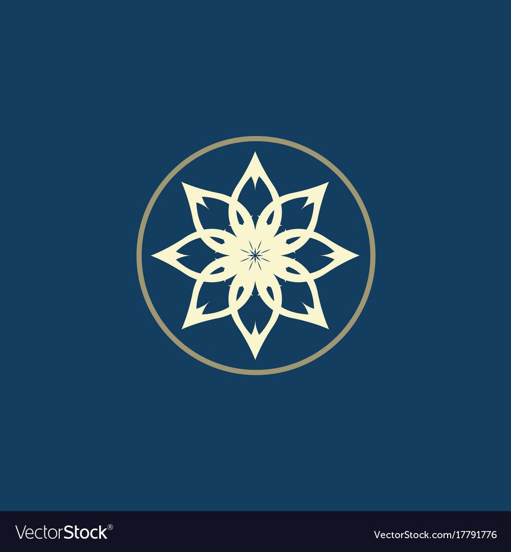 Luxury logo lotus logo