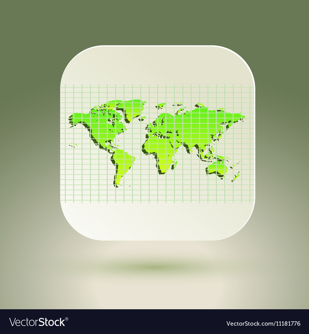 Map icon for application on air background Grid