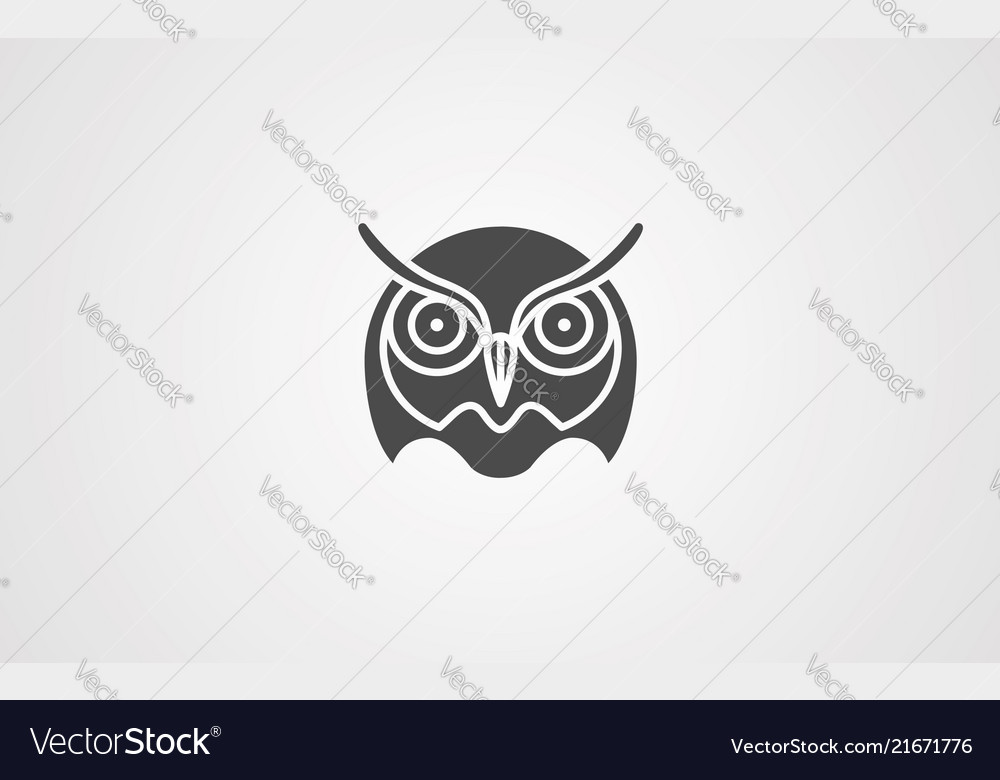 Owl icon sign symbol