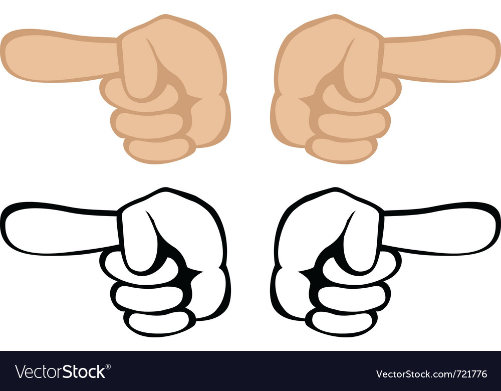 pointing hand royalty free vector image vectorstock rh vectorstock com pointing hand vector png pointing hand vector free
