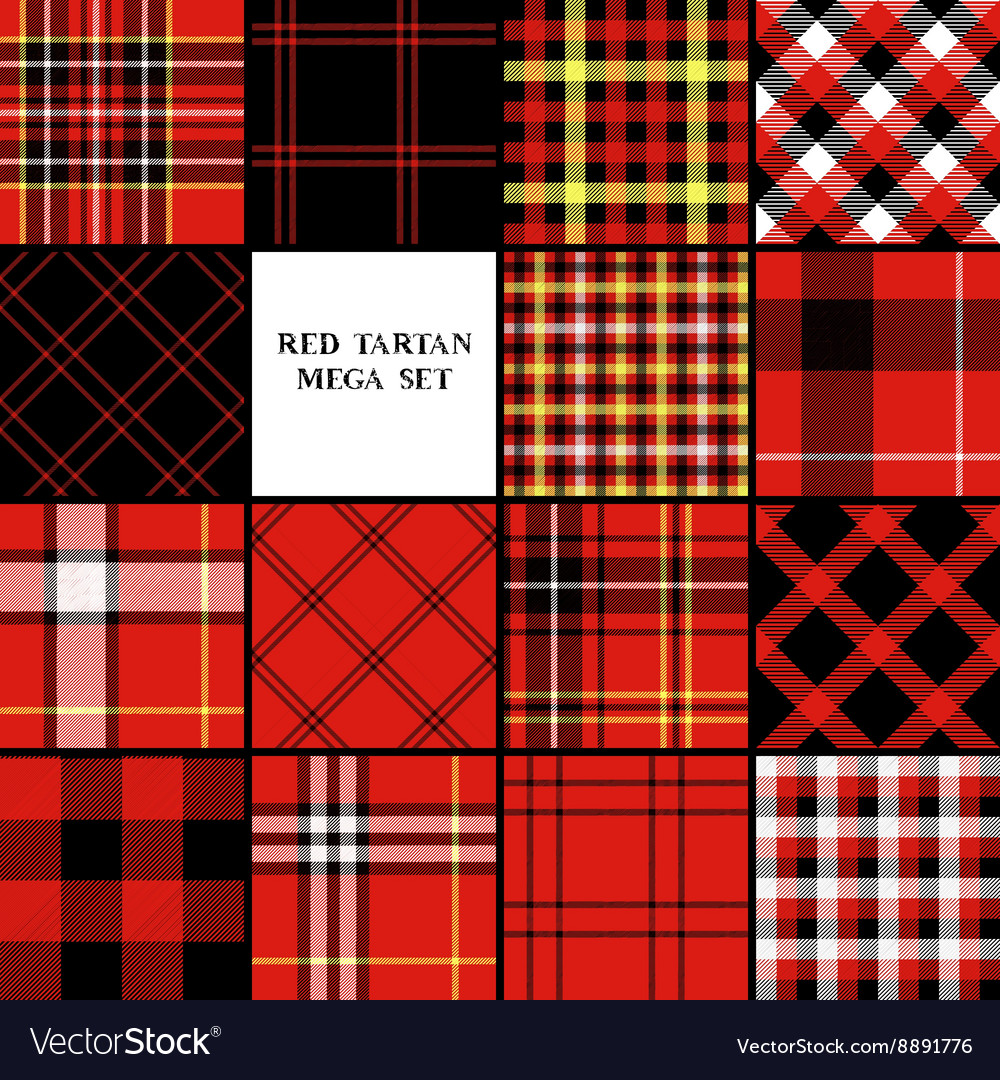 Scottish traditional tartan fabric seamless