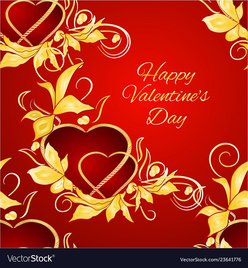 Seamless texture happy valentine day hearts