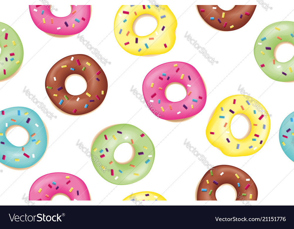 Set of sweet donuts